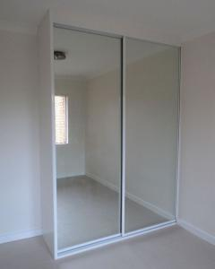 2 Sliding mirrored door wardrobe